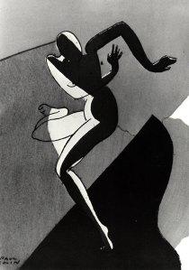 Josephine Baker, 'n deco grafiek deur Paul Colin