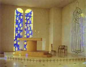 Chapelle du Rosaire, ontwerp deur Matisse  Vence,1951