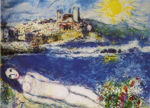 Marc Chagall - Nu aux fleurs 1969