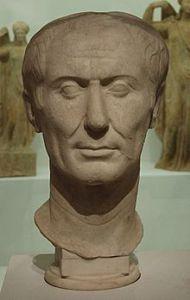 Julius Caesar 100 - 44 c. C - dalk een die enigste beelde van hom in sy tyd gemaak