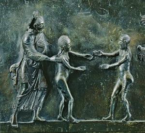 Bernward Deur, Hildesheim: God gee Eva aan Adam