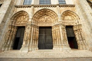 Chartres-katedraal: die portale