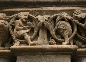 Romaans: figure vleg met dekoratiewe motiewe