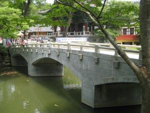 Die brug oor die Taehwa-rivier
