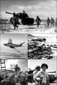 Die Koreaanse burgeroorlog - 'n montage