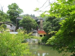 Tempels op Taehwa-rivier