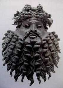 Brons masker van Dionysus
