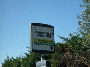 Avenue de la Sarrazine, Antibes